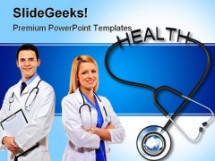 Stethoscope With Health Medical PowerPoint Themes And PowerPoint Slides 0311