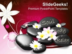 Stones And Flowers Spa Massage PowerPoint Templates Ppt Backgrounds For Slides 0313