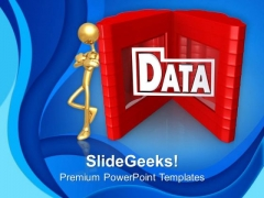 Store Data On Server For Business PowerPoint Templates Ppt Backgrounds For Slides 0513