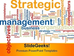 Strategic Management Business PowerPoint Background And Template 1210
