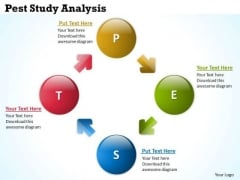 Strategic Management Pest Study Analysis Business Diagram