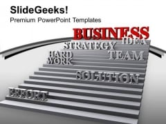 Strategy Effort Hard Work Leads Success PowerPoint Templates Ppt Backgrounds For Slides 0213