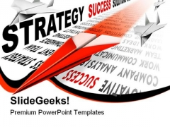 Strategy Paper Airplane Business PowerPoint Templates And PowerPoint Backgrounds 0911