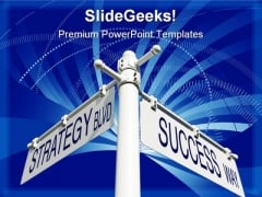 Strategy Success Business PowerPoint Template 0610