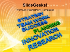 Strategy Team Work Success Planning PowerPoint Templates Ppt Backgrounds For Slides 0313