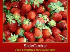 Red Strawberries PowerPoint Template