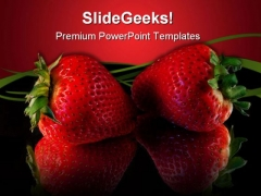Strawberries Food PowerPoint Backgrounds And Templates 0111