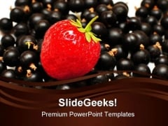 Strawberry With Grapes Food PowerPoint Themes And PowerPoint Slides 0211