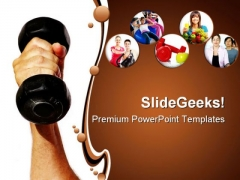 Strength Health PowerPoint Templates And PowerPoint Backgrounds 0311