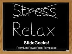 Stress Relax Business PowerPoint Template 0610
