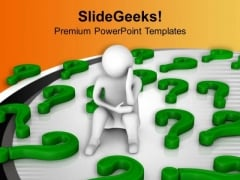 Stressed Business Man Business Concept PowerPoint Templates Ppt Backgrounds For Slides 0313
