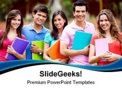 Students Group Education PowerPoint Themes And PowerPoint Slides 0411