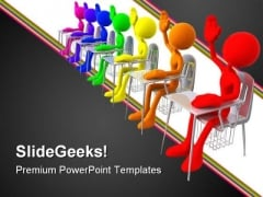 Students In Class Education PowerPoint Templates And PowerPoint Backgrounds 0611