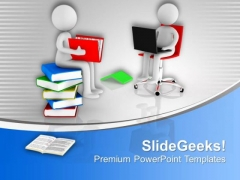 Study The Books Online PowerPoint Templates Ppt Backgrounds For Slides 0613