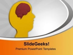 Study The Human Brain PowerPoint Templates Ppt Backgrounds For Slides 0613