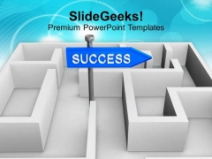 Success Concept With Labyrinth Path PowerPoint Templates Ppt Backgrounds For Slides 0113
