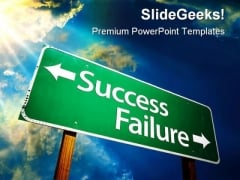 Success Failure Metaphor PowerPoint Backgrounds And Templates 0111