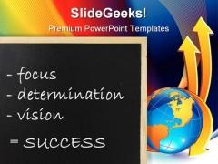 Success Globe PowerPoint Template 0610