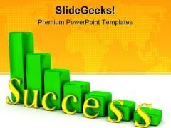 Success Graph Business PowerPoint Template 0910