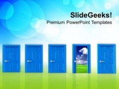 Success Has Only One Door PowerPoint Templates Ppt Backgrounds For Slides 0313
