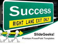Success Highway Signpost Business PowerPoint Templates And PowerPoint Backgrounds 0311