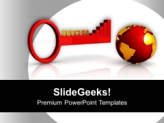 Success Key And Global Business Development PowerPoint Templates Ppt Backgrounds For Slides 0313