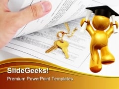 Success Key Education PowerPoint Backgrounds And Templates 1210