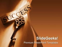 Success Key Security PowerPoint Templates And PowerPoint Backgrounds 0311