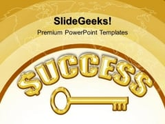 Success Key Security PowerPoint Templates And PowerPoint Themes 0412