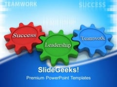 Success Leadership Gear Wheels PowerPoint Templates And PowerPoint Themes 0412