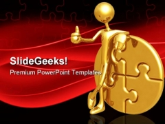Success Puzzle Business PowerPoint Themes And PowerPoint Slides 0611
