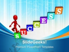 Success Stairs Business PowerPoint Templates And PowerPoint Themes 0712