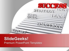 Success Strategy Team Hard Work Idea PowerPoint Templates Ppt Backgrounds For Slides 0313