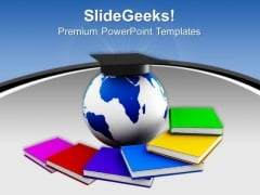 Successful Graduates Global PowerPoint Templates And PowerPoint Themes 0912