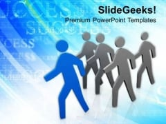 Successful Person With Leadership Skills PowerPoint Templates Ppt Backgrounds For Slides 0513