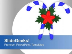 Sugar Candy For Christmas Celebration PowerPoint Templates Ppt Backgrounds For Slides 0513