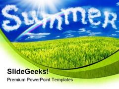 Summer Nature PowerPoint Template 0810