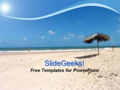 Holidays Summer on Beach PowerPoint Template