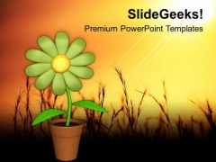 Sunflower Depends On Sunlight PowerPoint Templates Ppt Backgrounds For Slides 0613