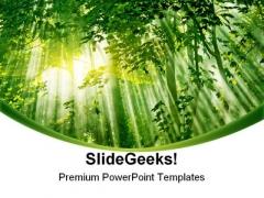 Sunlight01 Nature PowerPoint Template 1110