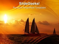 Sunset Sail Holidays PowerPoint Themes And PowerPoint Slides 0811