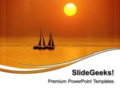 Sunset View Nature PowerPoint Templates And PowerPoint Themes 0512