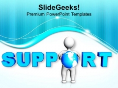 Support Business Concept Communication PowerPoint Templates Ppt Backgrounds For Slides 0413