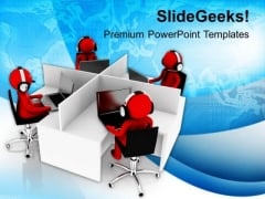 Support Center With Good Environment PowerPoint Templates Ppt Backgrounds For Slides 0713