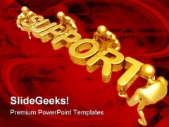 Support People Business PowerPoint Themes And PowerPoint Slides 0511