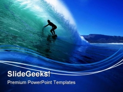 Surfing Beach PowerPoint Themes And PowerPoint Slides 0811