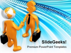 Surfing Business PowerPoint Themes And PowerPoint Slides 0611