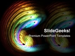 Swirl Beauty Abstract PowerPoint Template 0910