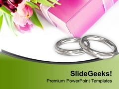 Symbol Of Love With Rings PowerPoint Templates Ppt Backgrounds For Slides 0713