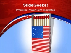 Symbol Of Unity With American Flag PowerPoint Templates Ppt Backgrounds For Slides 0413
